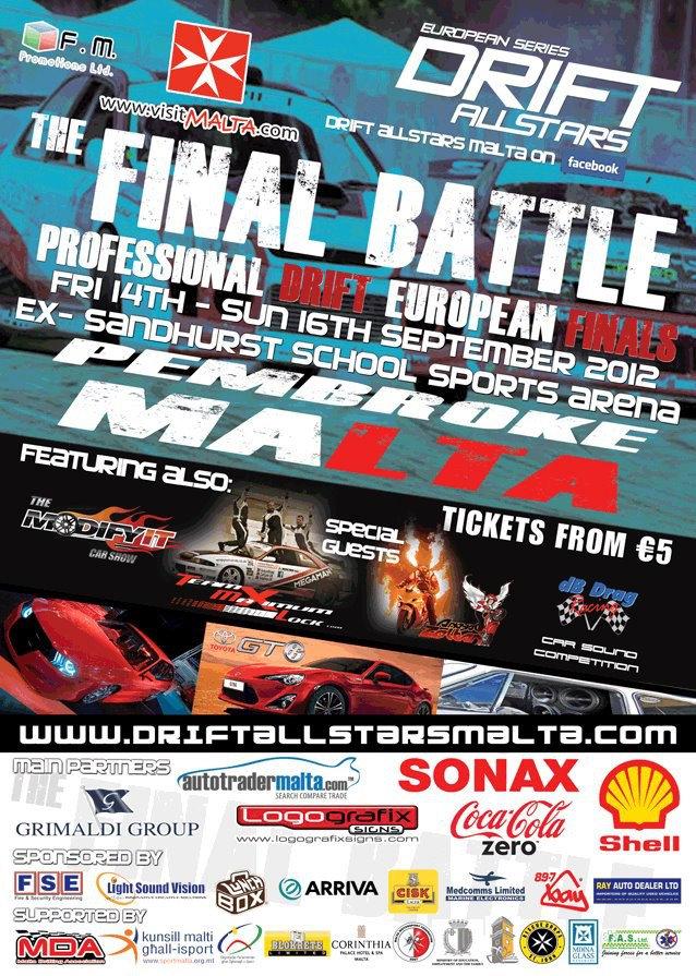 Drift All Stars Malta 2012 Banner