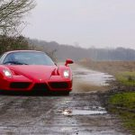 Ferrari Enzo out in the countryside Gymkhana WRC style