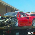 Wrecked F40 Texas