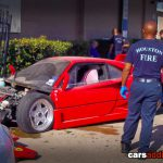 Houston Wrecked Ferrari F40