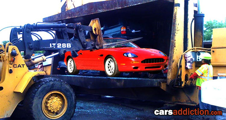 UK Police Force seize and crush expensive cars