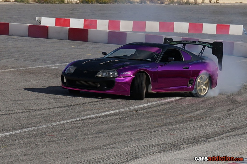 Toyota Supra Purple Chrome