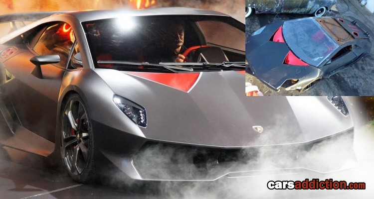 For Sale - Destroyed Lamborghini Sesto Elemento from Need for Speed
