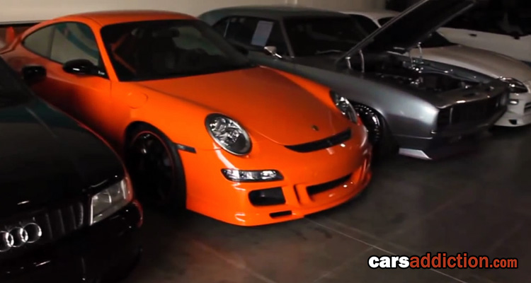 8 minute Tour of Paul Walker's car collection