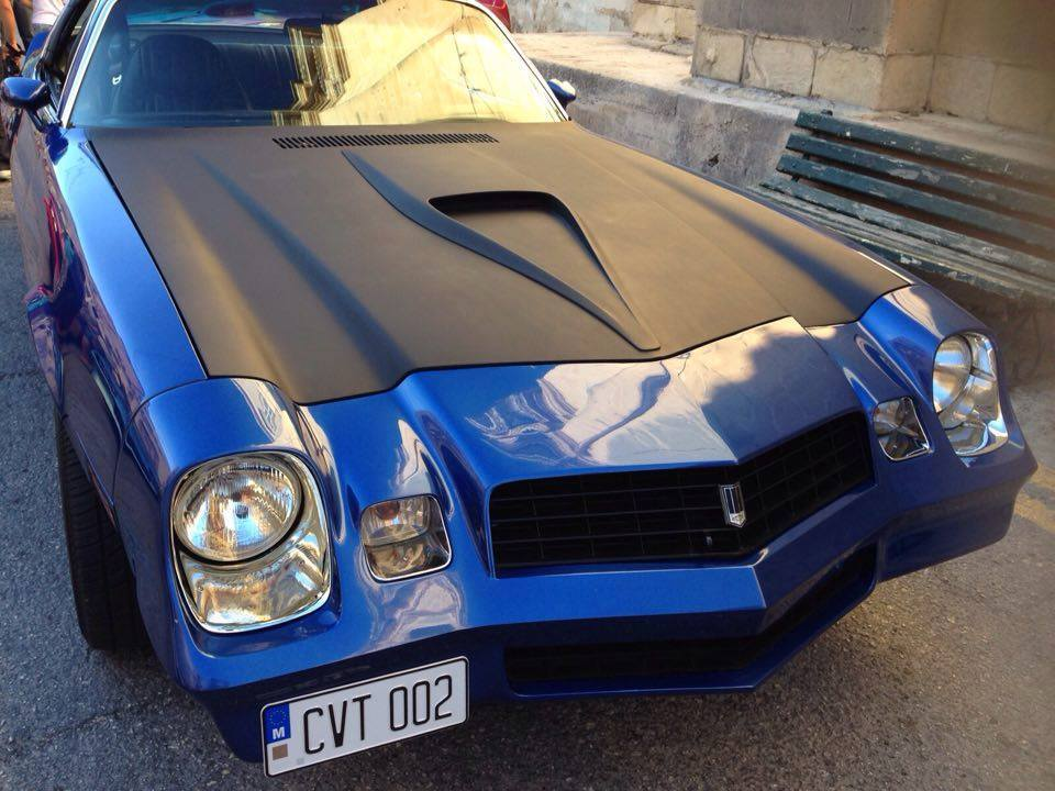 Blue Camaro in Malta
