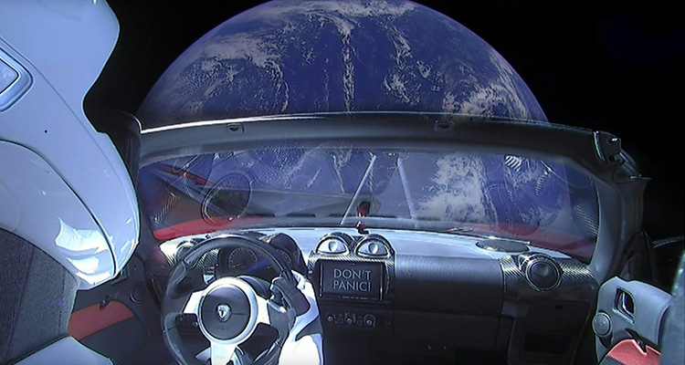 First Road Car Launched into Space